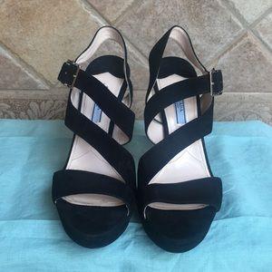 Women's Prada Suede Platform Heels